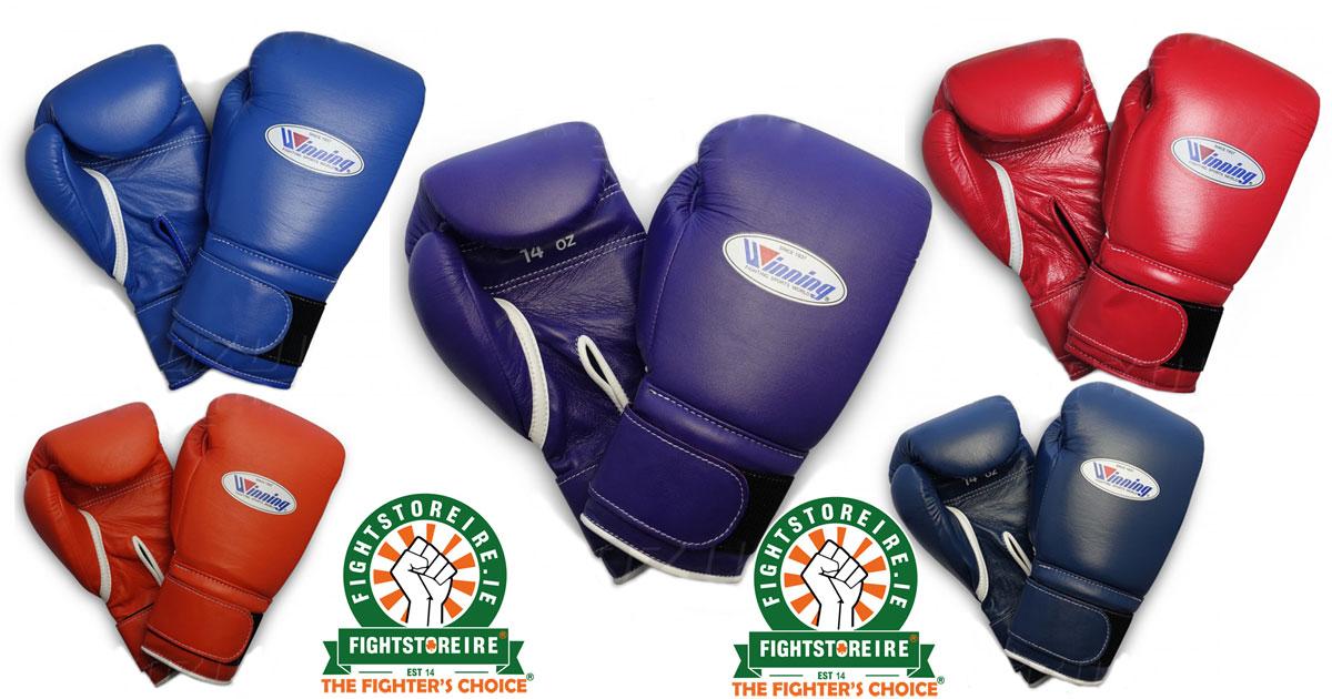 Winning Boxing Gloves 14oz Red Velcro