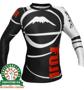 Fuji Sports IBJJF Ranked Rashguard Black - Long Sleeve