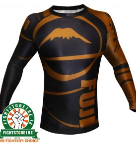 Fuji Sports IBJJF Ranked Rashguard Brown - Long Sleeve