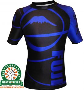 Fuji Sports IBJJF Ranked Rashguard Blue - Short Sleeve