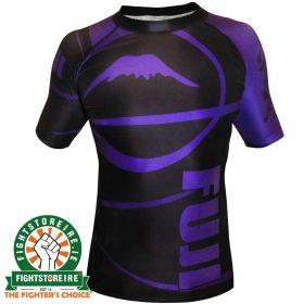 Fuji Sports IBJJF Ranked Rashguard Purple - Short Sleeve
