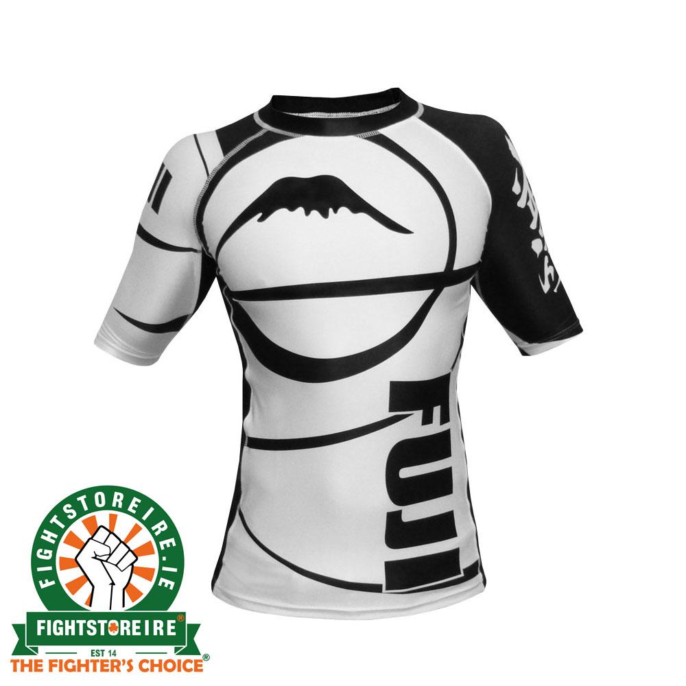 Fuji Musashi Long Sleeve MMA Rashguard Black//White