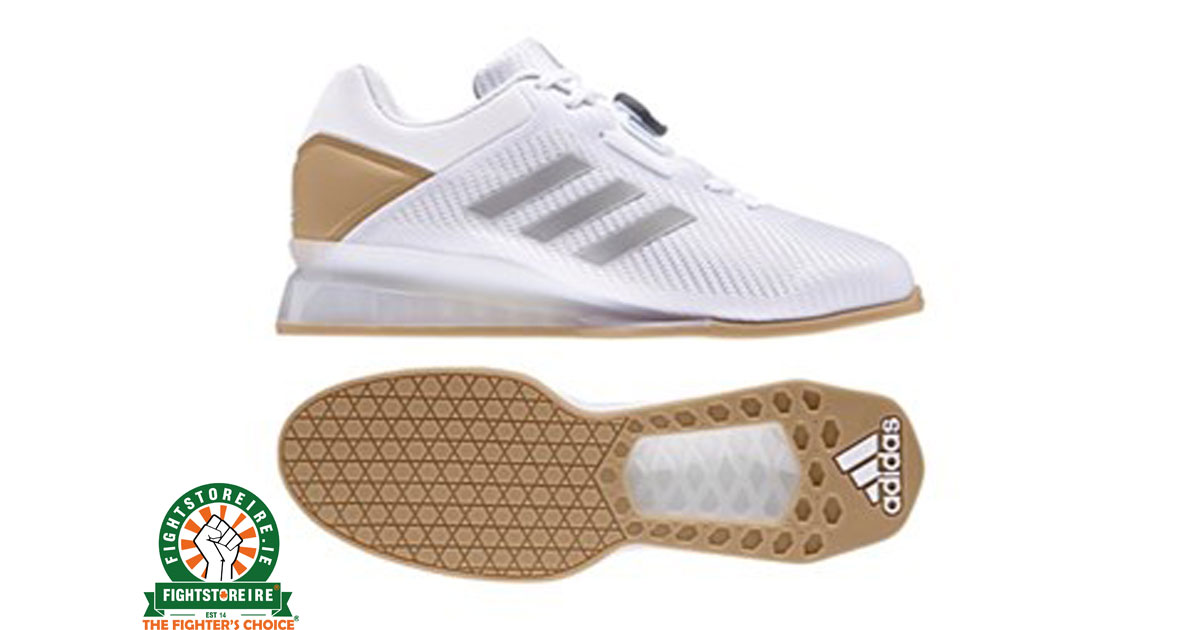 7dd72569d611 Adidas Leistung 16 II Weightlifting Shoes - White Gold