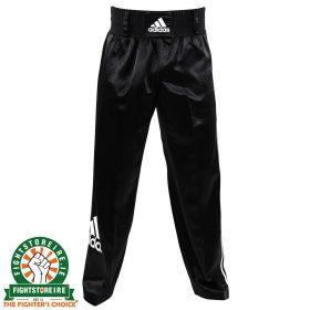 Adidas Satin Kickboxing Trousers - Black/White