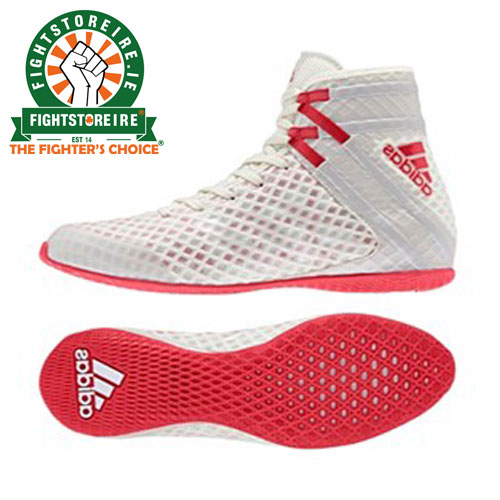 80f0a7a66d4058 Adidas Speedex 16.1 Boxing Boots - White Red - Fight Store IRELAND