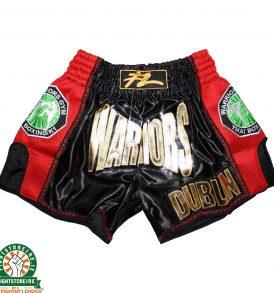 Fightlab x Warriors Muay Thai Shorts - Black/Red