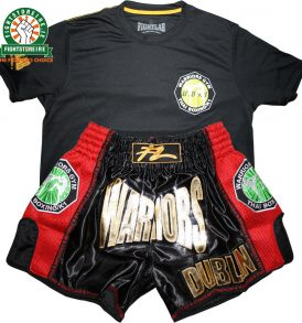 Fightlab x Warriors Muay Thai Shorts and Tee Bundle