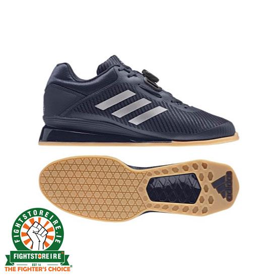 3ace6dde479b Adidas Leistung 16 II Weightlifting Shoes - Blue Silver