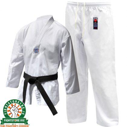 Cimac WTF Style Taekwondo Suit Printed - White
