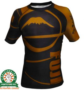 Fuji Sports IBJJF Ranked Rashguard Brown - Short Sleeve