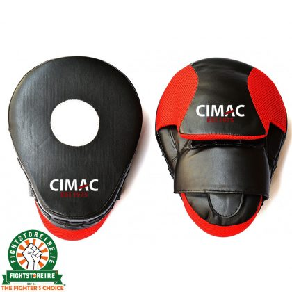 CIMAC Curved Focus Mitts - Black/Red