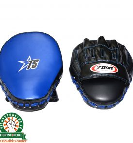 T-Sport Curved Focus Mitts - Black/Blue
