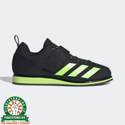 Adidas Powerlift 4 Weightlifting Shoes - Black/Green