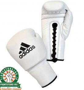 Adidas Pro Boxing Gloves White