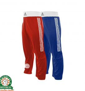 Adidas WAKO Kickboxing Trousers - Red and Blue