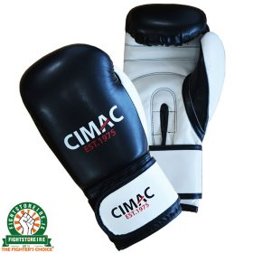 CIMAC Artificial Leather Boxing Gloves - Black