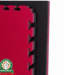 Reversible Premium 40mm Jigsaw Mats - Red/Black