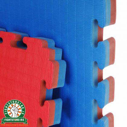 Reversible Premium Tatami 40mm Jigsaw Mats - Red/Blue