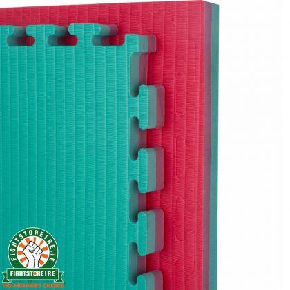Reversible Tatami 40mm Jigsaw Mats - Red/Green