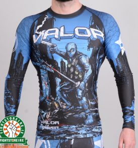 Valor Assassin Artwork Rashguard - Blue