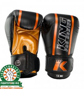 King Elite 3 Muay Thai Gloves - Black/Gold