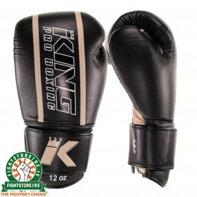 King Elite 4 Muay Thai Gloves - Black/Gold