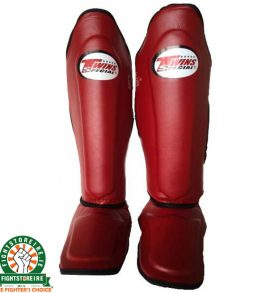 Twins SGL 10 Leather Shinguards - Wine Red