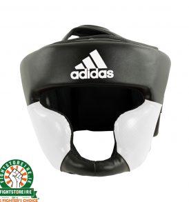 Adidas Leather Response Head Guard - Black/White
