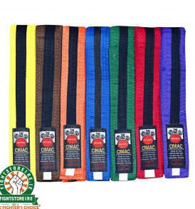 Cimac Black Striped Belts