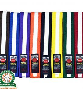 Cimac White Striped Belts