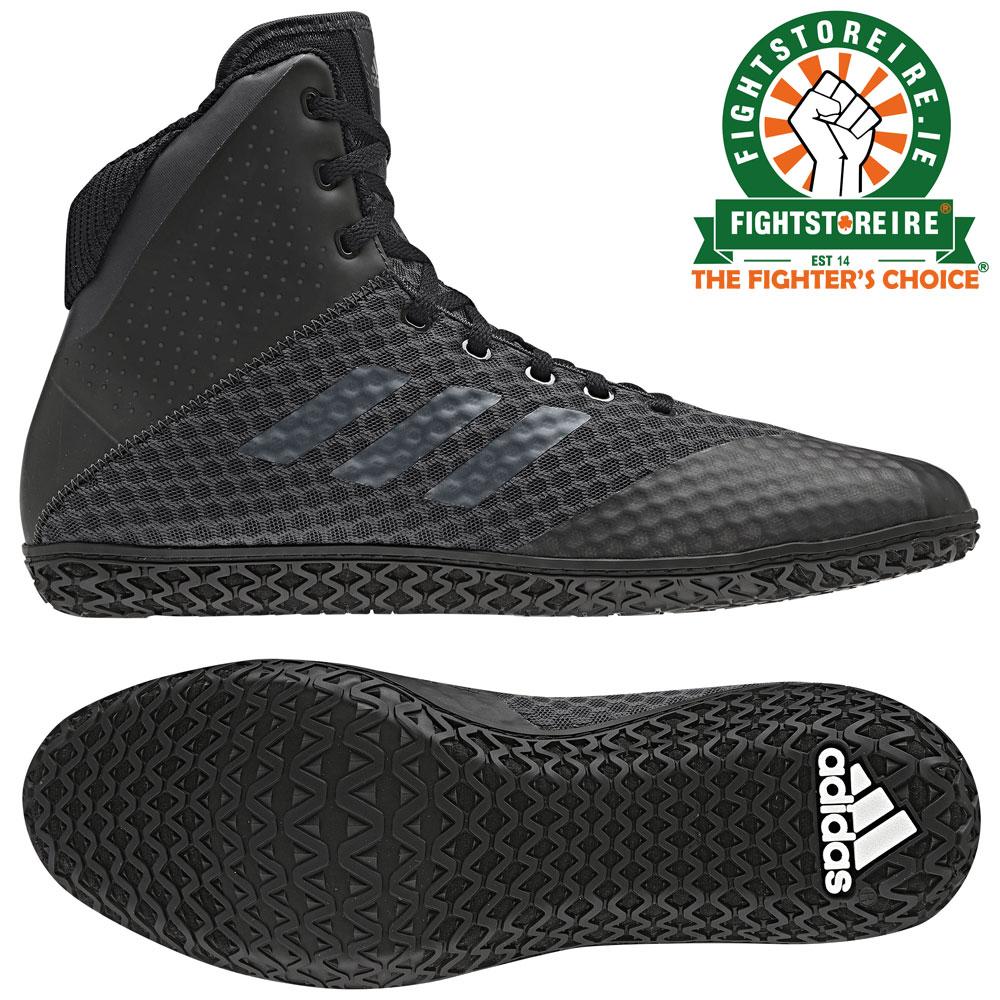 03d03472 Adidas Mat Wizard 4 Wrestling Boots - Black | Fight Store IRELAND