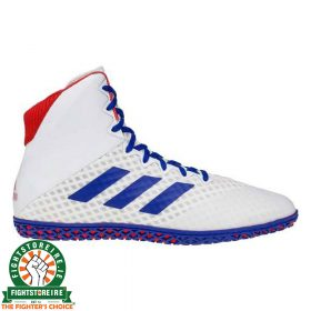 Adidas Mat Wizard 4 Wrestling Boots - Blue/White