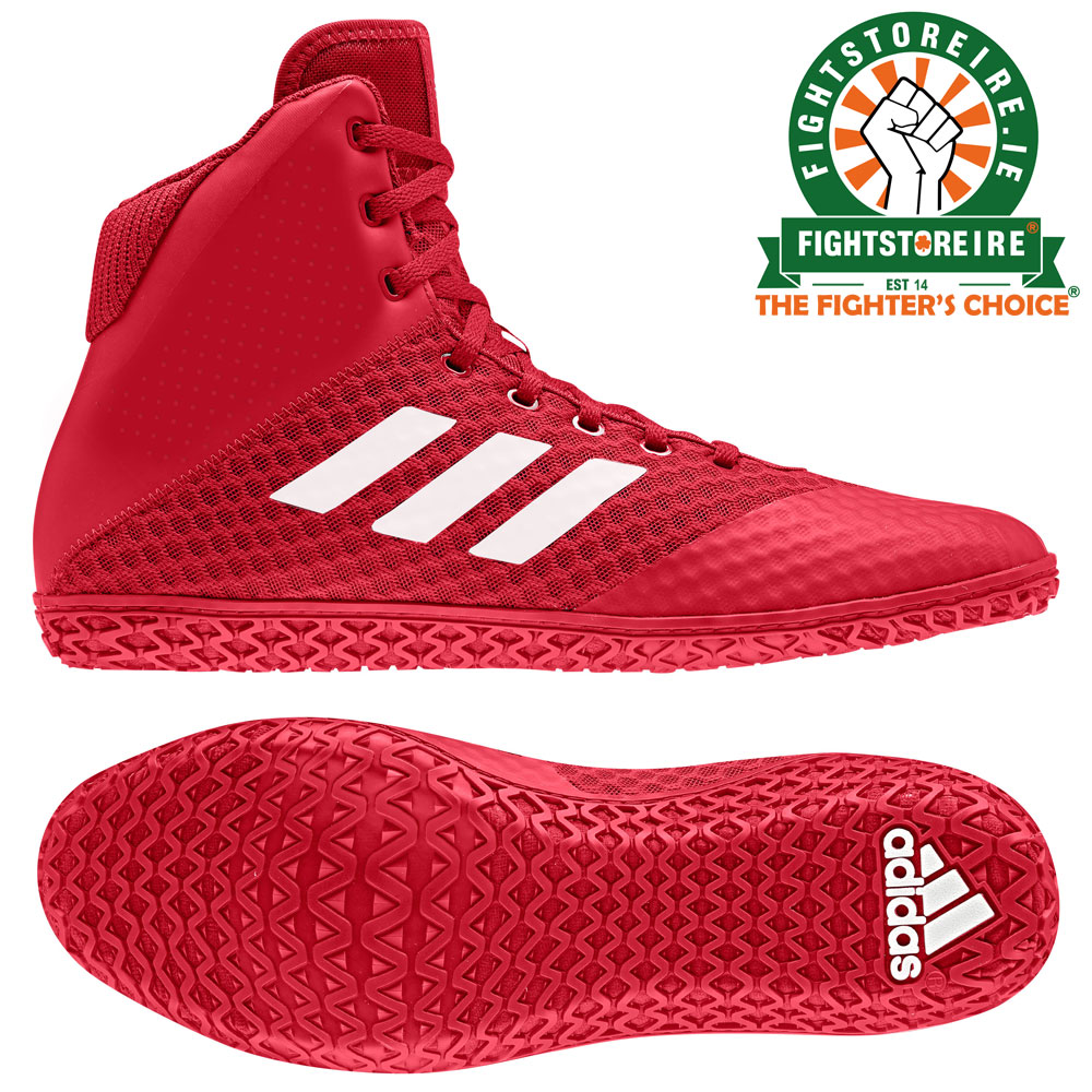 1011ecaf Adidas Mat Wizard 4 Wrestling Boots - Red | Fight Store IRELAND