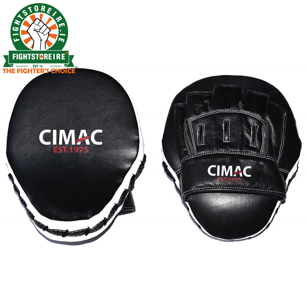 Cimac Leather Focus Mitts BlackWhite