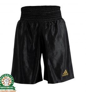 Adidas Satin Boxing Shorts in Black