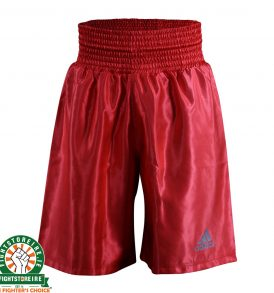 Adidas Satin Boxing Shorts in Red