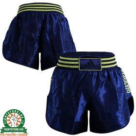 Adidas Thai Boxing Shorts New Shorter Style - Blue