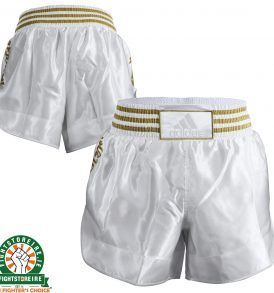 Adidas Thai Boxing Shorts New Shorter Style - White