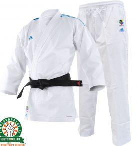 Adidas WKF Adi-light Kumite Karate Uniform - 4.5oz - Blue