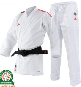 Adidas WKF Adi-light Kumite Karate Uniform - 4.5oz - Red