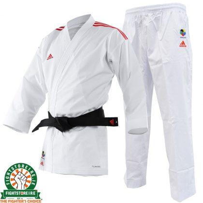 Adidas WKF Adi-light Kumite Karate Uniform - 4.5oz - Red