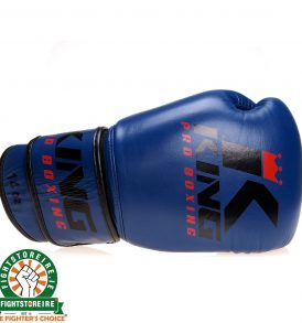 King Muay Thai Leather Gloves - Blue