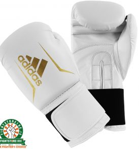 Adidas Speed 50 Boxing Gloves - White/Gold