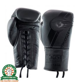 Booster PRO Range Leather Lace Up Gloves - Black