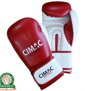 CIMAC Artificial Leather Boxing Gloves - Red