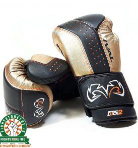 Rival RB10 Intelli-Shock Bag Gloves - Black/Gold