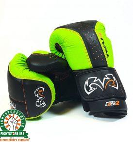 Rival RB10 Intelli-Shock Bag Gloves - Black/Lime
