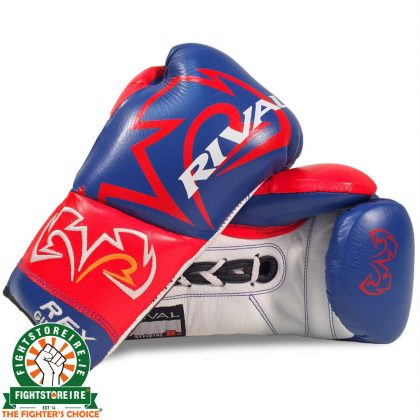 Rival RFX-Guerrero Pro Fight Gloves - SF-F - Blue/Red/White