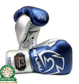 Rival RS100 Professional Sparring Gloves - Blue/Silver