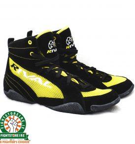 Rival RSX GUERRERO Classic Lo Top Boxing Boots - Black/Yellow